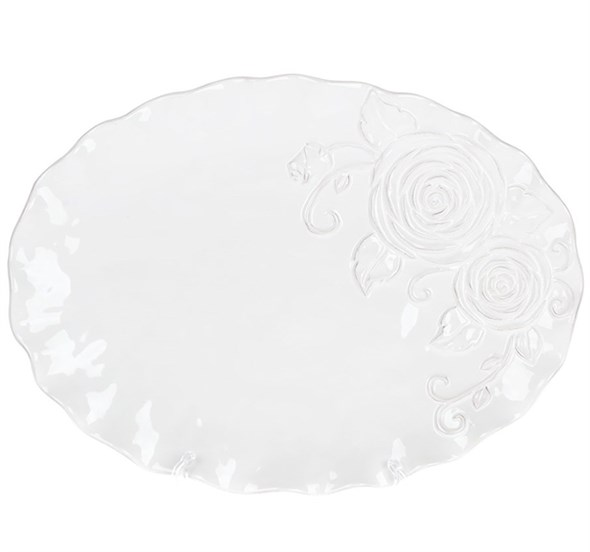 "Тарелка ""Роза"" 35х26 см - фото 23392"