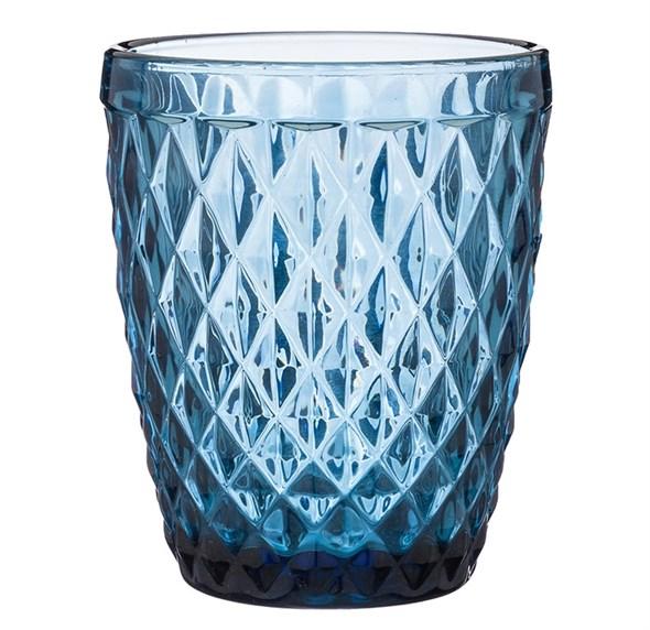 "Стакан ""Ромб"" 270 синий из цветного стекла - фото 23768"