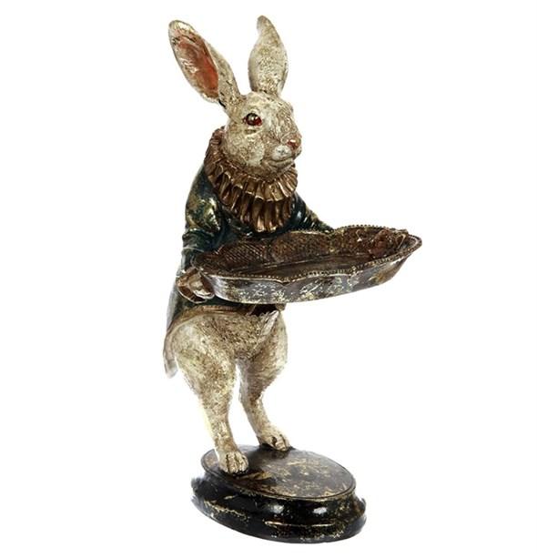 """Статуэтка """"Кролик с подносом"""" - фото 23808"""