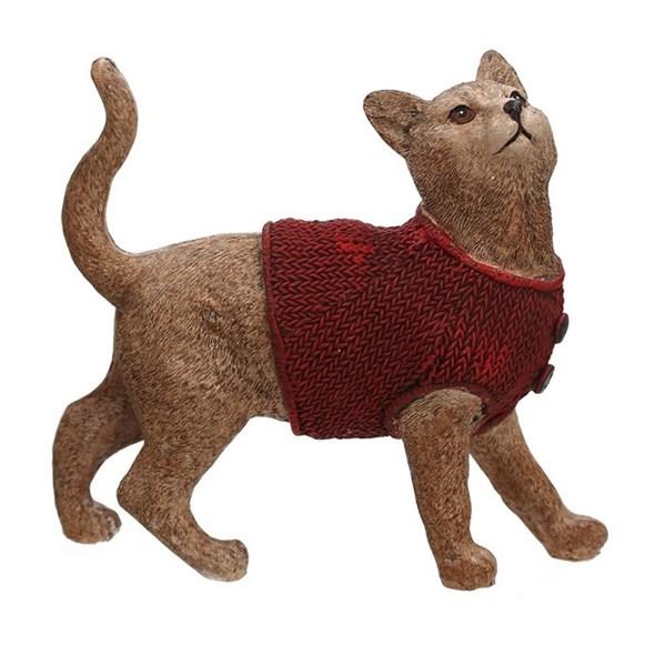 """Статуэтка """"Кошка в свитере"""" - фото 23812"""