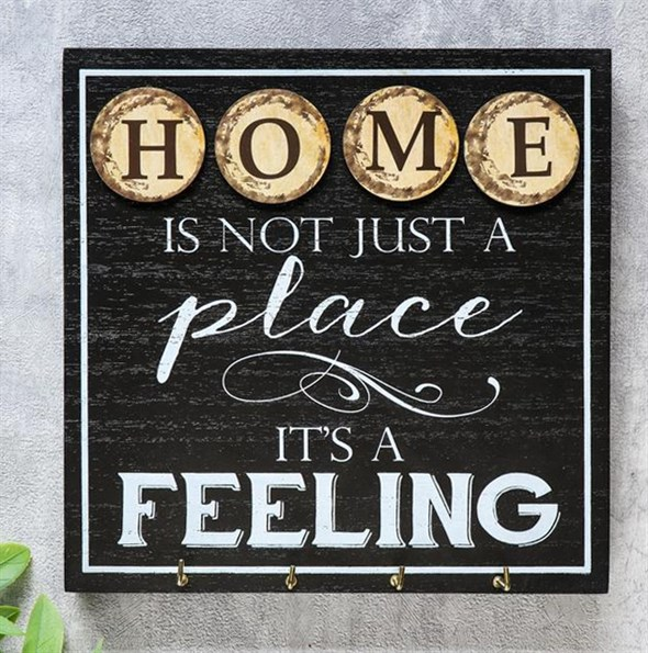 """Панно """"Дом - это не просто место, это чувство"""" с крючками - фото 23835"""