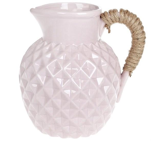 Кувшин керамический 1600 мл розовый - фото 23895