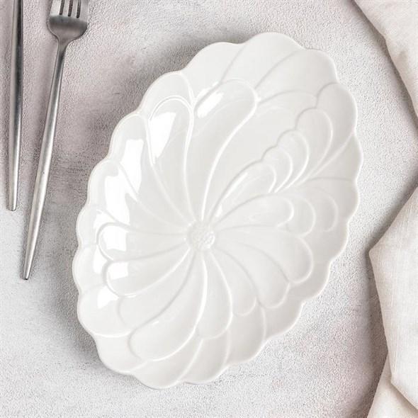 """Блюдо овальное """"Цветок"""" - фото 23996"""