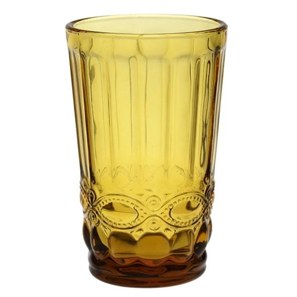 """Стакан """"Франция"""" желтый 350 мл из цветного стекла - фото 24086"""