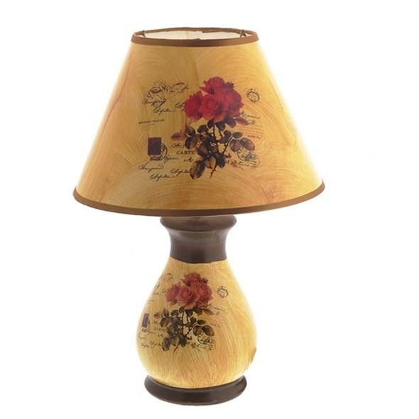 """Лампа настольная """"Розы"""" 36 см - фото 24171"""
