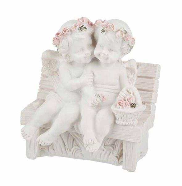 """Статуэтка """"Ангелы на скамейке"""" - фото 24380"""