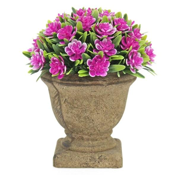Цветок искусственный розовый - фото 24541