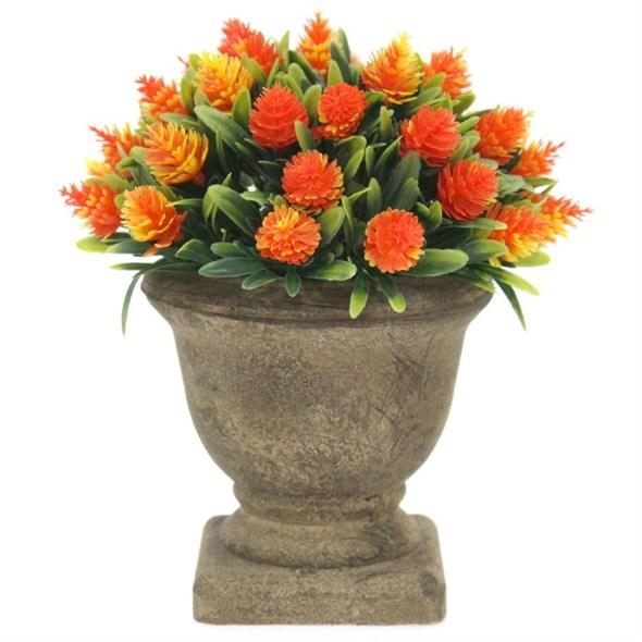 Цветок искусственный оранжевый - фото 24568