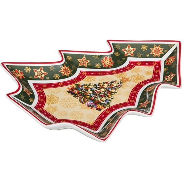 """Блюдо """"Новогодняя елочка"""" в подарочной упаковке - фото 24600"""