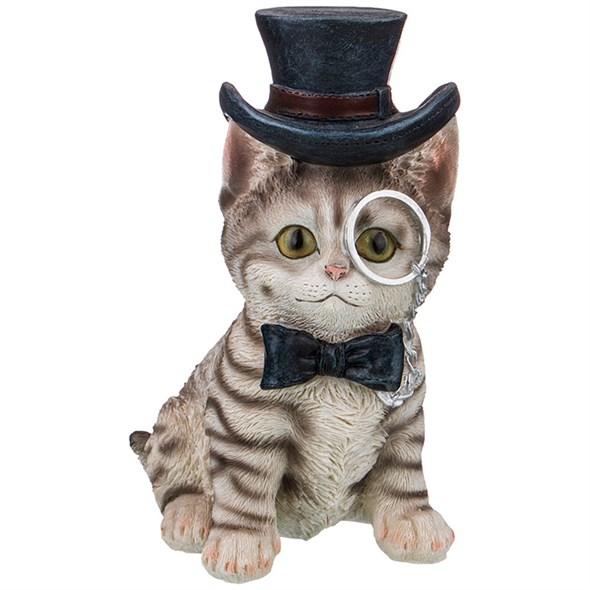 """Статуэтка """"Кот в шляпе"""" 17 см - фото 24620"""