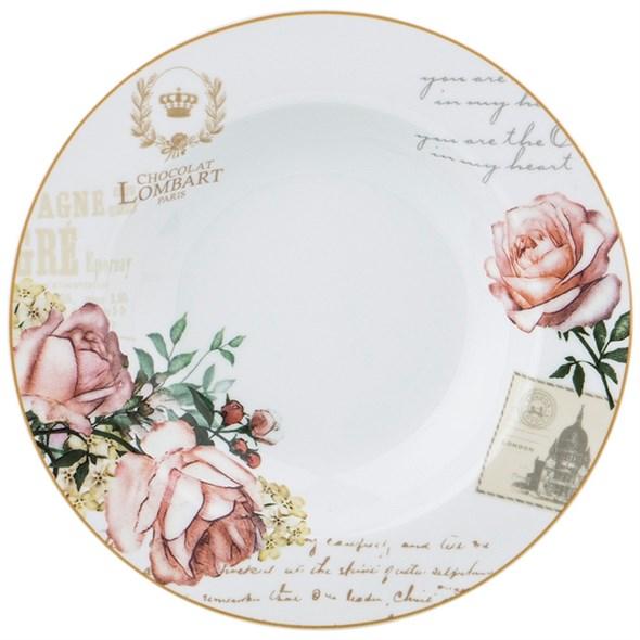 "Тарелка суповая ""Цветы Парижа"" 22 см - фото 24622"