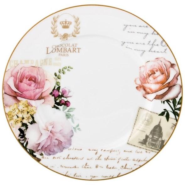 """Тарелка """"Цветы Парижа"""" 19 см - фото 24623"""