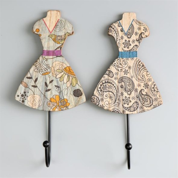 """Крючок """"Платье"""" в ассортименте, цена за штуку - фото 24678"""