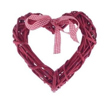 """Декоративное изделие """"Плетеное сердце"""" - фото 24739"""