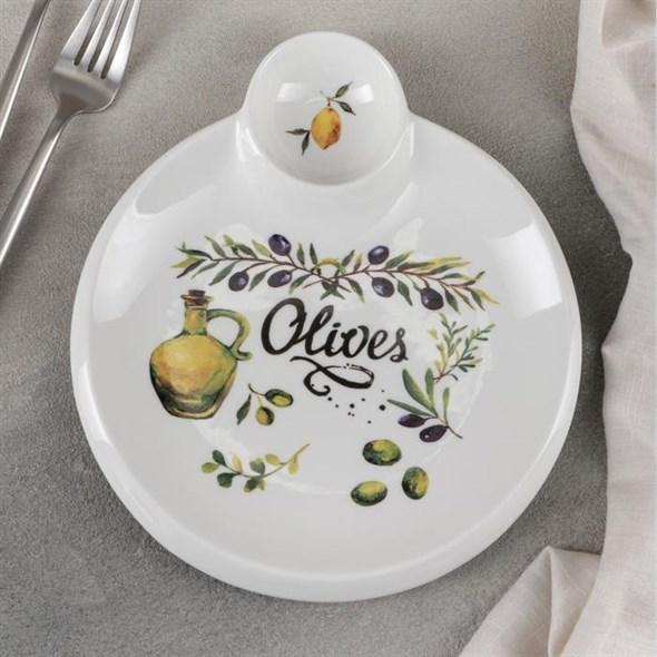 """Блюдо для подачи с соусом """"Олива"""" - фото 24810"""