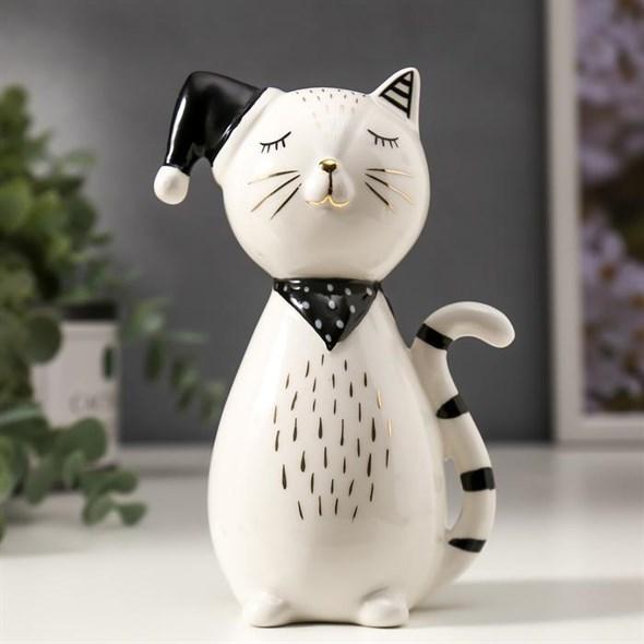 """Статуэтка """"Кот в шапке"""" - фото 24817"""