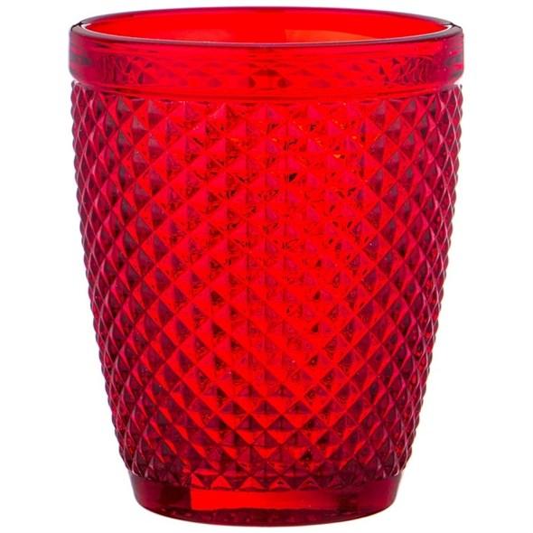 """Стакан """"Винтаж"""" 280 мл красный из цветного стекла - фото 24917"""