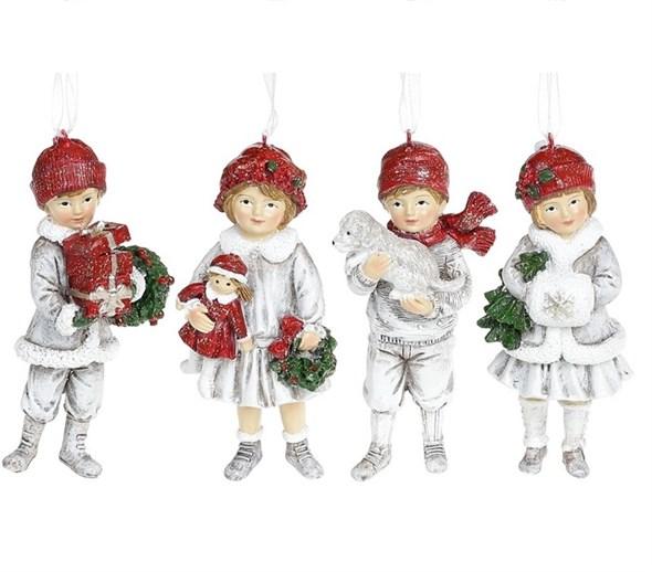 """Елочная игрушка """"Дети в белых нарядах"""", цена за штуку - фото 25011"""