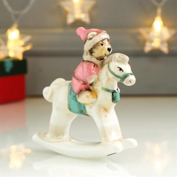 """Статуэтка """"Медвежонок на лошадке"""" - фото 25088"""