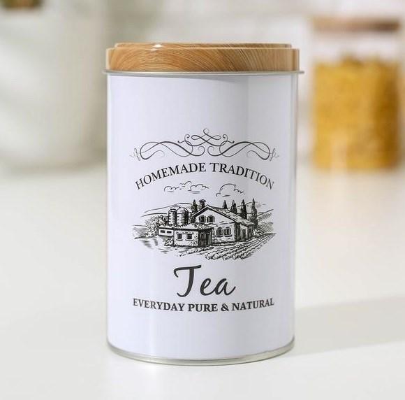 """Банка металлическая """"Чай"""" малая - фото 25275"""