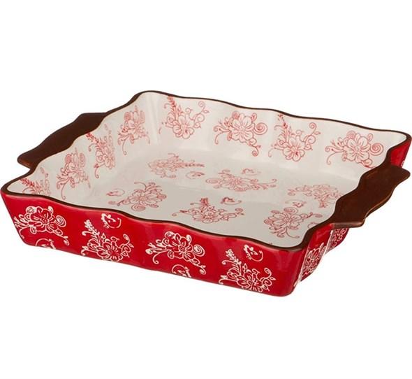 Блюдо для запекания красное 30х25 см - фото 25635