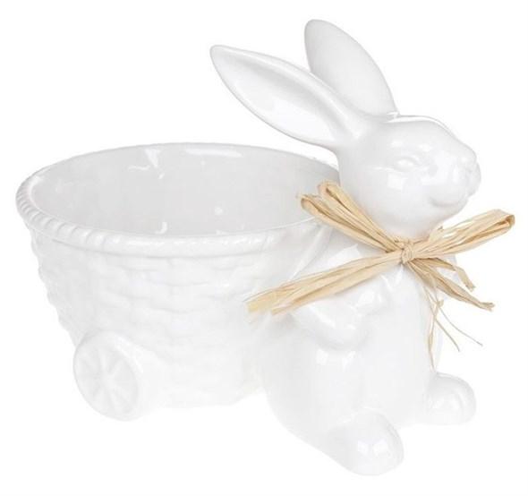 Керамический кролик с тележкой - фото 25759