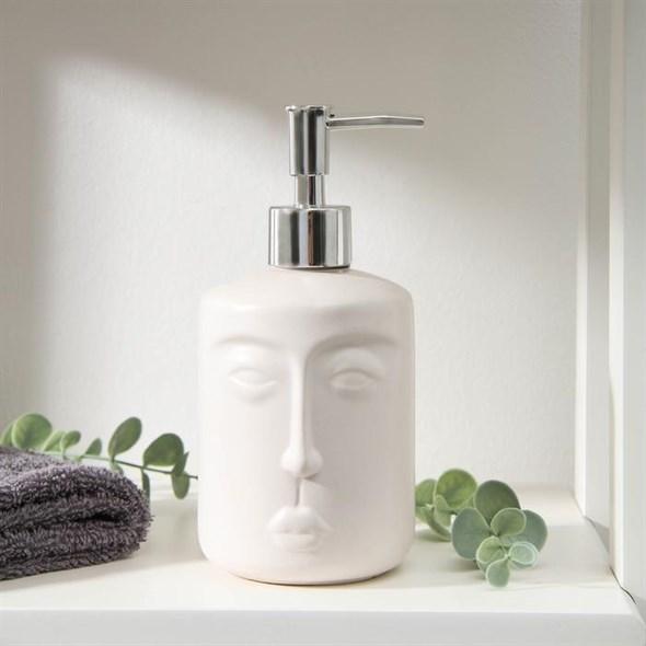 Дозатор для жидкого мыла 300 мл белый - фото 25830