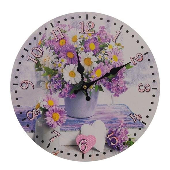 "Часы настенные ""Натюрморт с цветами"" - фото 25976"