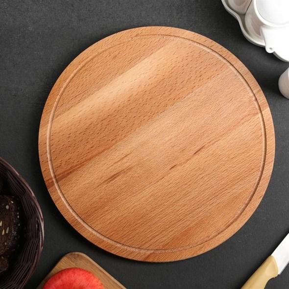 Доска деревянная сервировочная 30 см - фото 26003