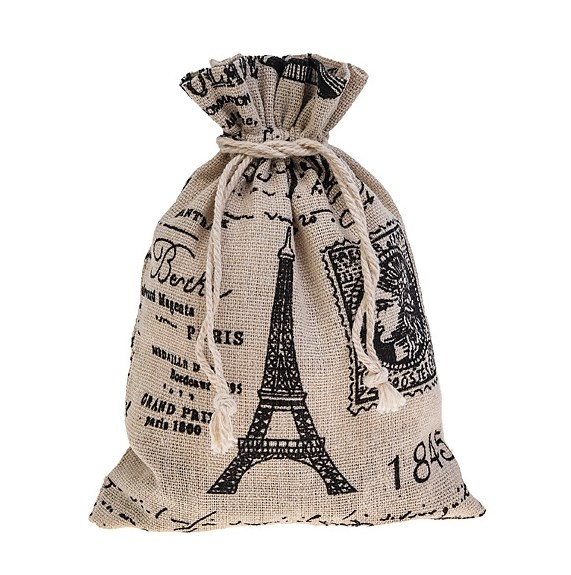 "Мешочек ""Париж"" 13х18 см - фото 26170"
