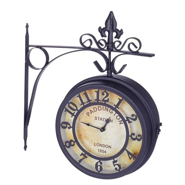 Часы двусторонние настенные диаметр 20 см - фото 26227
