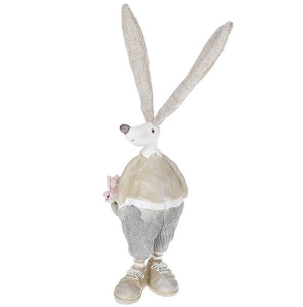 """Статуэтка """"Кролик с букетом"""" - фото 26256"""