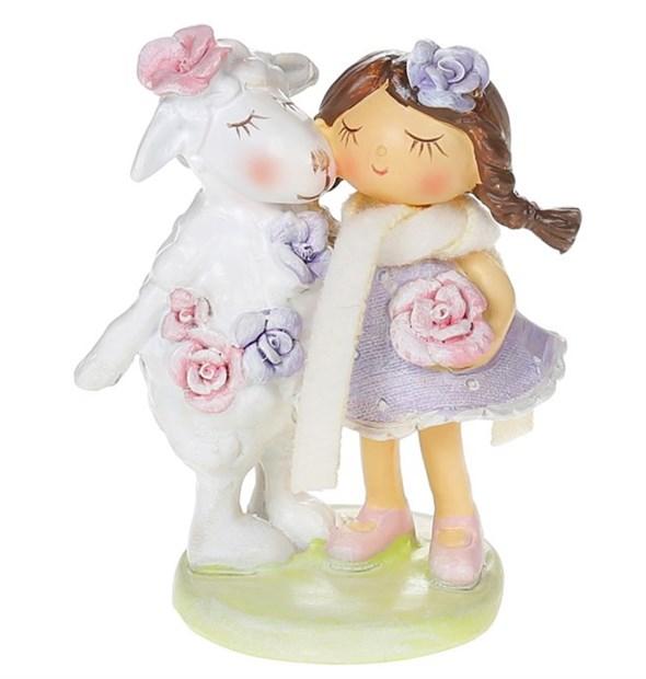 "Статуэтка ""Девочка с овечкой"" - фото 26260"