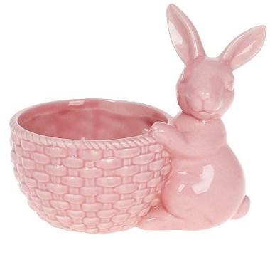 Кролик с корзинкой розовый - фото 26269