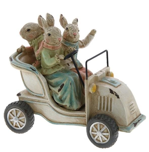 """Статуэтка """"Кролики в автомобиле"""" - фото 26440"""