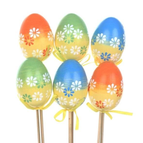 Набор декоративных яиц для кулича в ассортименте - фото 26632