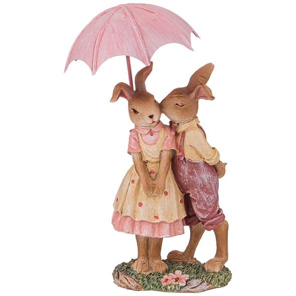 """Статуэтка """"Кролики под зонтом"""" - фото 26896"""