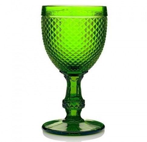 """Бокал """"Винтаж"""" зеленый 250 мл из цветного стекла - фото 27010"""