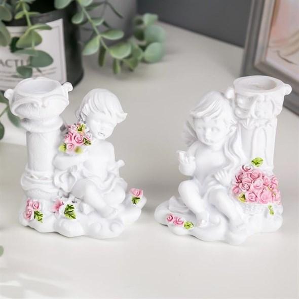 "Подсвечник ""Ангел с цветами"", цена за штуку - фото 27034"