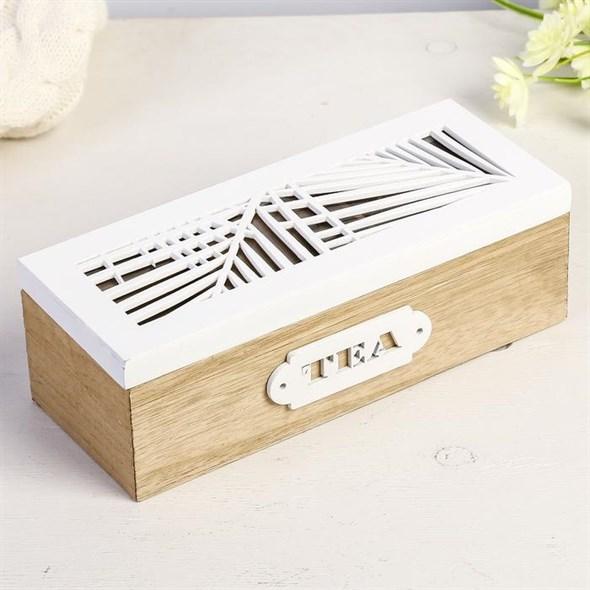 Шкатулка для чайных пакетиков на три отделения - фото 27041
