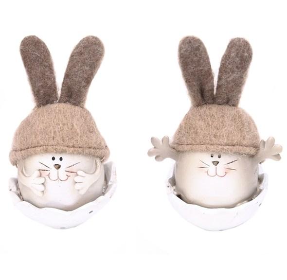 """Статуэтка """"Кролик в яйце"""" в ассортименте, цена за штуку - фото 27101"""