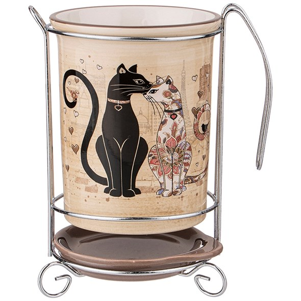 """Подставка под кухонные приборы """"Парижские коты"""" - фото 27174"""