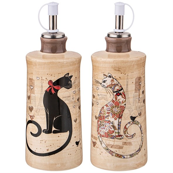 "Набор для масла и уксуса ""Парижские коты"" по 300 мл - фото 27175"