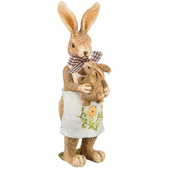 """Статуэтка """"Кролик с крольчонком"""" - фото 27205"""