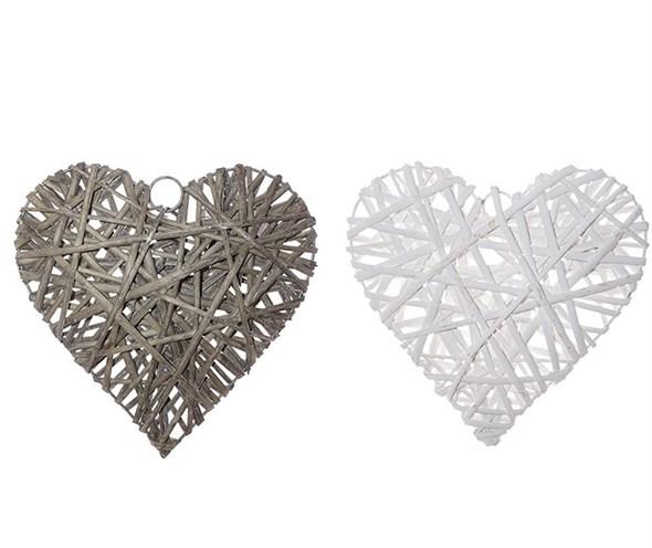 Плетеное сердце в ассортименте, цена за штуку - фото 27617