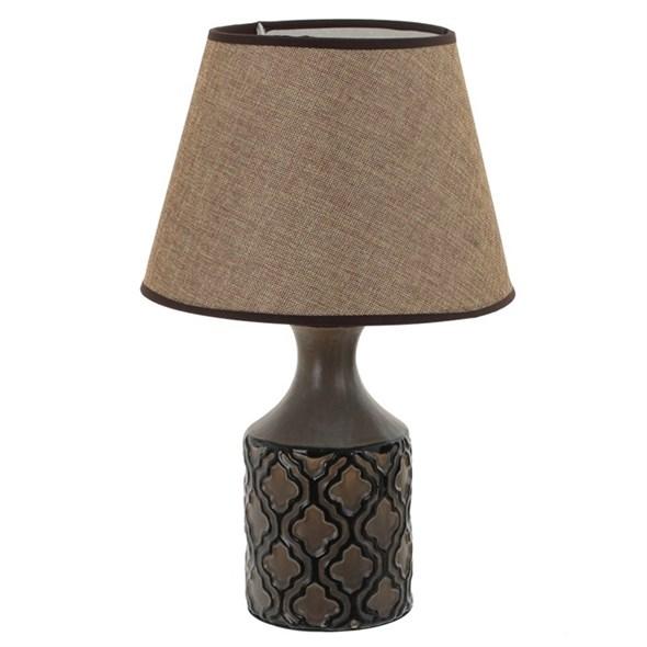 Лампа настольная коричневая - фото 27618