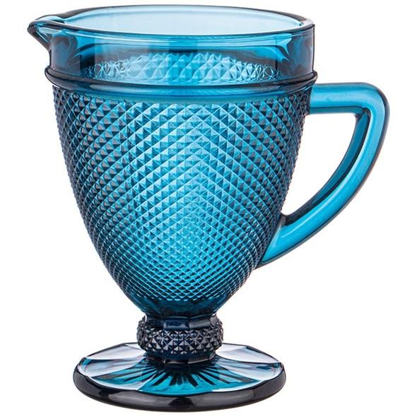 """Кувшин стеклянный """"Ромб"""" синий 1200 мл - фото 27639"""