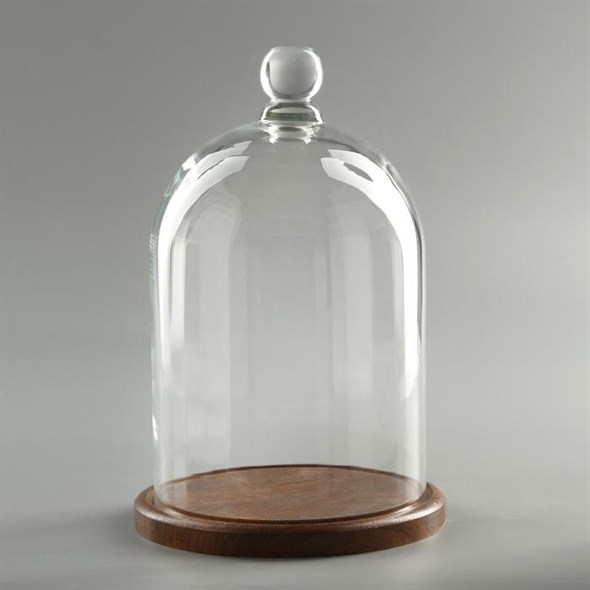 Стеклянный клош на подставке 24х15 см - фото 27672