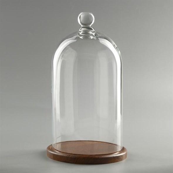 Стеклянный клош на подставке 29х15 см - фото 27673