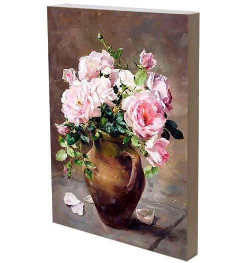 """Панно """"Розы в кувшине"""" 29х42 см - фото 27685"""